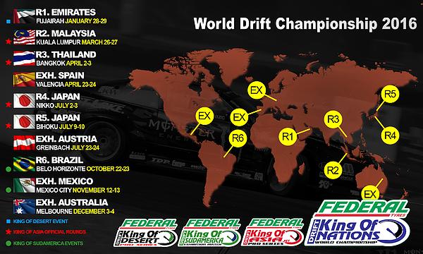 King of Nations World Drift Championship 2016